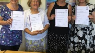CAREGivers complete City and Guilds Alzheimer's training