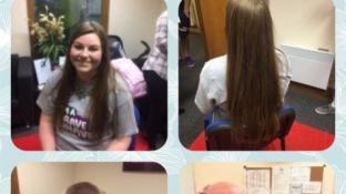 Hannah Brave's the Shave!!