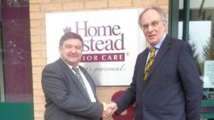 Local MP Peter Bone visits Home Instead East Northants