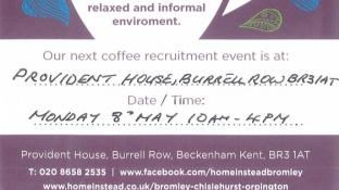 Come and talk all things 'Home Instead' over a cup of coffee!