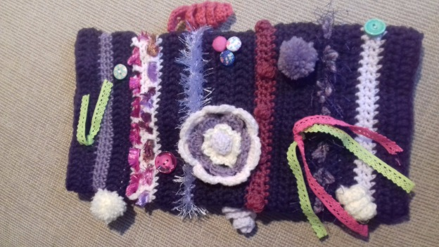 Twiddle Muffs and Prop Box to Aid Dementia Patients