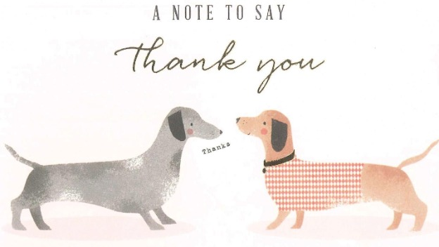 A note to say thank you