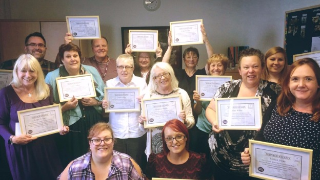 Service Awards for August 2017