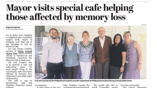 Sussex Express Memory Cafe Article!