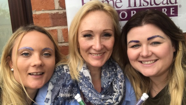 Glitter Brows in aid of Alzheimer\'s Awareness Day!