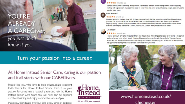 Home Instead is hiring part time CAREGivers in Chichester