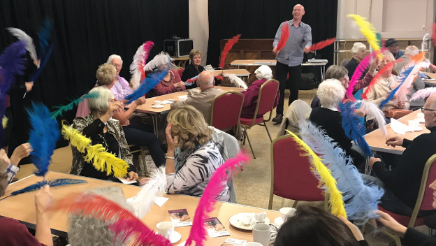 Video from Home Instead's first dementia friendly event at The Regis Centre, Bognor Regis