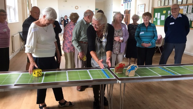 Horse racing at the Memory Cafe!