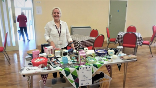 Tombola at Macmillan Coffee Morning at the Village Hall, Newtown Linford.