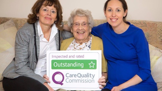 We have been awarded an 'Outstanding' care rating