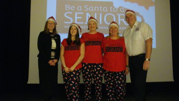 Santa to a Senior at Gosforth Middle School