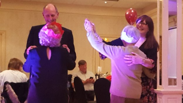 Clients and CAREGiver\'s put on their dancing shoes to celebrate!