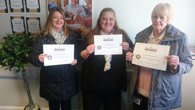 Caregivers Complete their extra Moving and Handling training