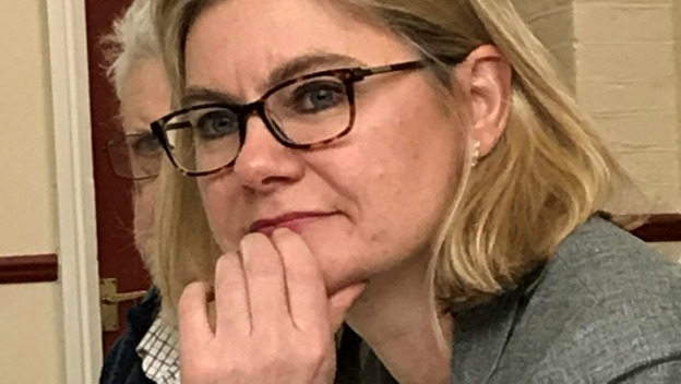 Justine Greening attends the \'Wandsworth older peoples forum\'