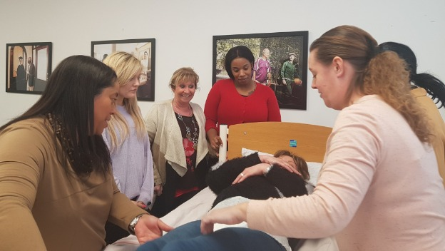 Our new CAREGivers complete the Manual Handling training!