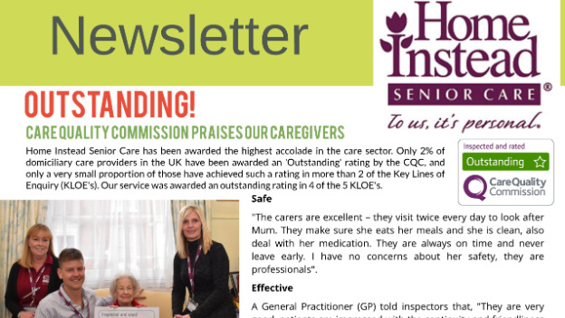 Home Instead Newsletter Spring 2018
