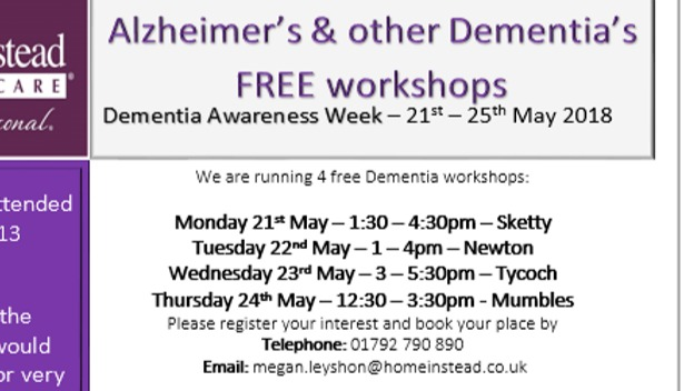 FREE Dementia Awareness Workshops