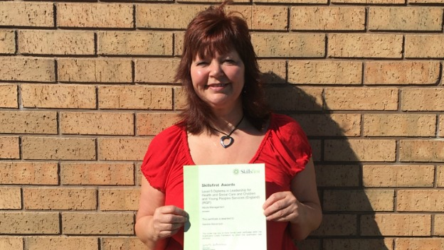 Care Supervisor Sandra achieves Level 5 Diploma in Leadership for Health and Social Care (QCF)