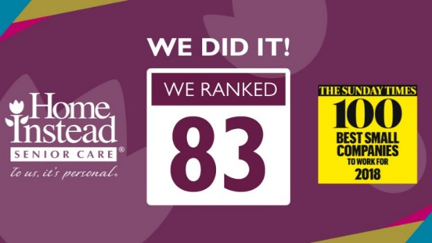 Home Instead ranks number 83 in Top 100 Best Small Companies list