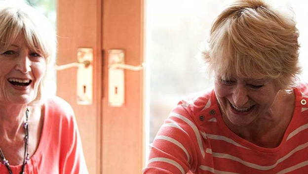 Caring with someone with dementia.