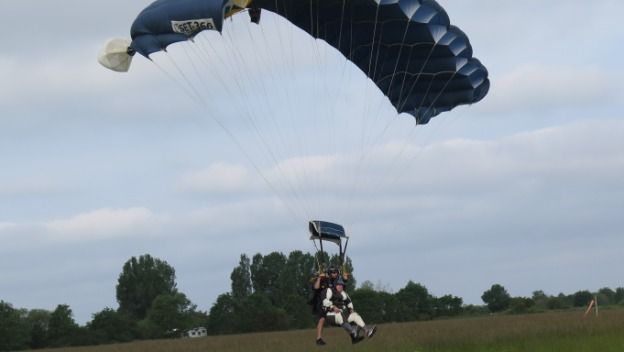 Vikki skydives her way to raising money for Age UK Norwich