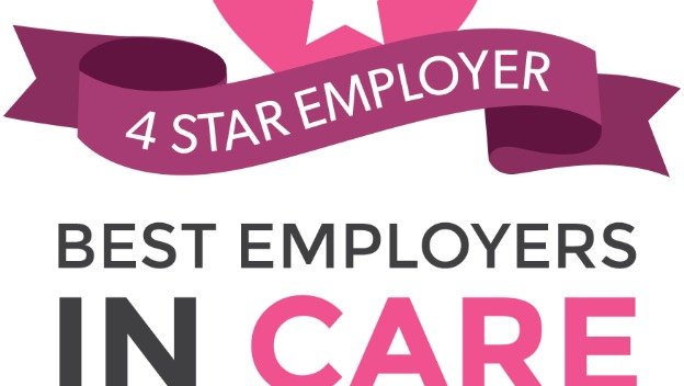 Proud to be awarded 4 stars as an employer in care