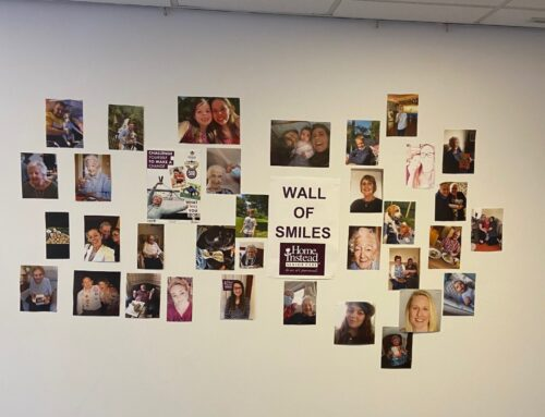 Home Instead Rugby's Wall of Smiles!