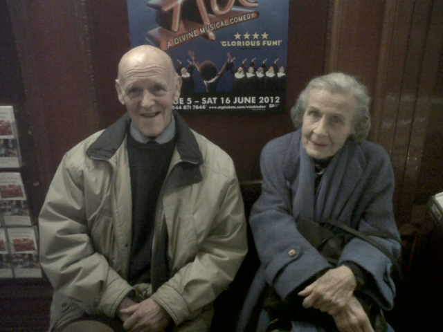 Elizabeth and Doug at the New Wimbledon Theatre
