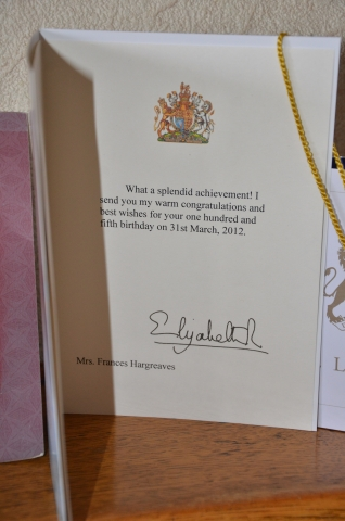 Special card from the Queen.