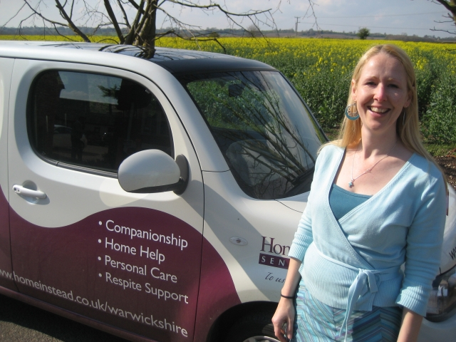 Jo Chambers and the Home Instead car