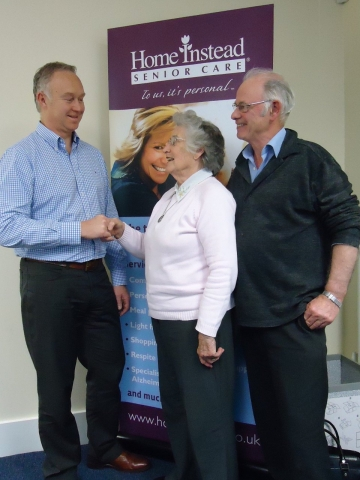 David Moore with LINk members Sheelagh Peel and Mike Lappin
