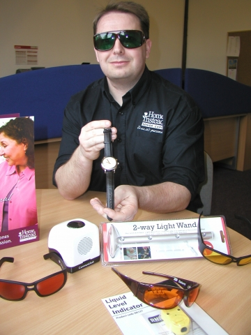 Kevin demonstrates RNIB products