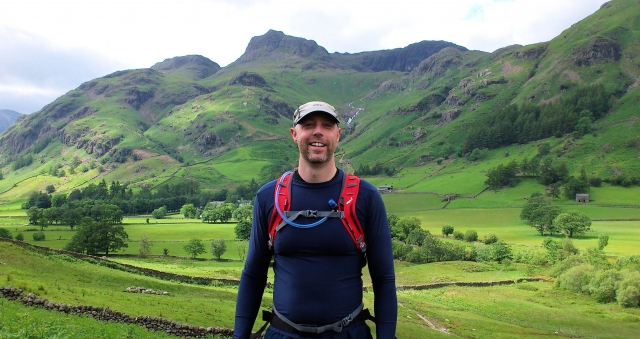 Mick on a recent training run in the Lakes