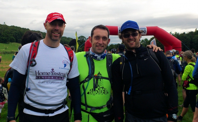 Mick, Gaz & Frank at the start of the 50 mile race