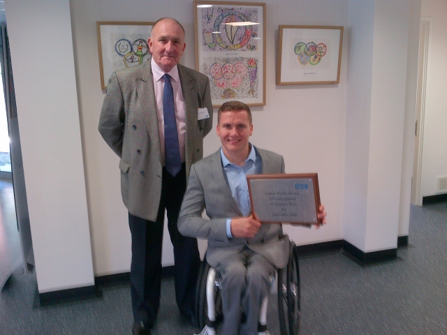 Home Instead's Tony Ward proudly pictured with David Weir