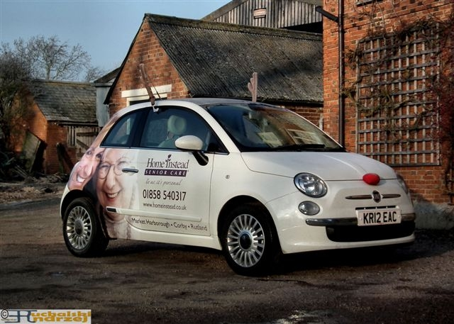 Fiat 500 with Christmas Trim!