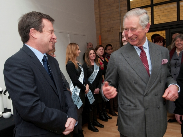 Trevor with Prince Charles at a dementia awareness event
