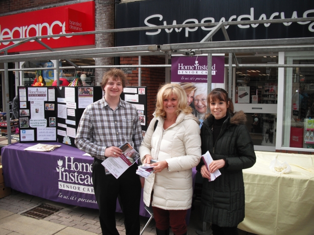 Gail, Natalie & Adam on our Ormskirk Market - Information Stall