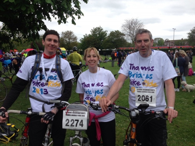 Robert, Alexis and Peter at the finish!