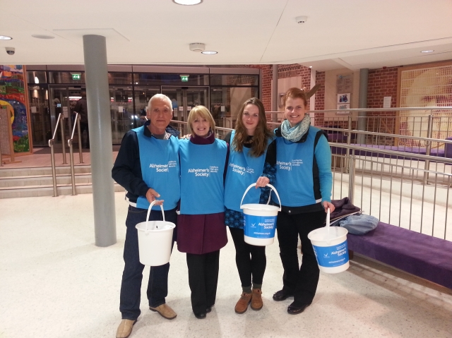 Alzheimer's Society collection at Theatre Severn