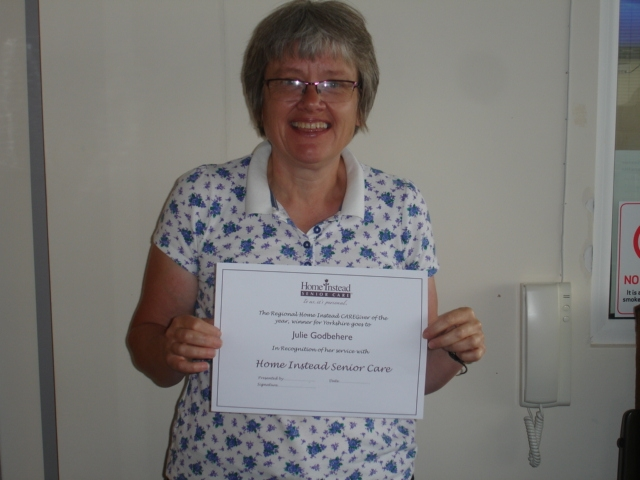 Outstanding local CAREGiver, Julie Godbehere