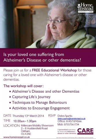 First Dementia Workshop of 2014 in Oldham