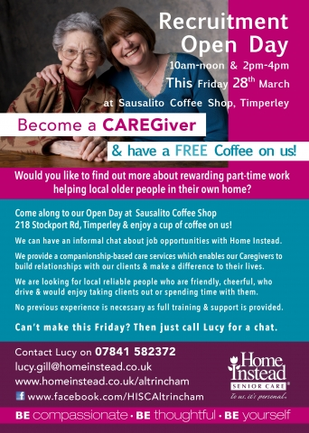 Timperley Recruitment Open Day 28th March 2014