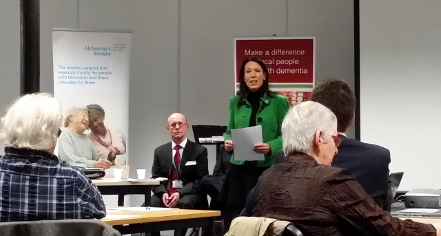 Oldham MP Debbie Abrahams Speaking at the Dementia Event