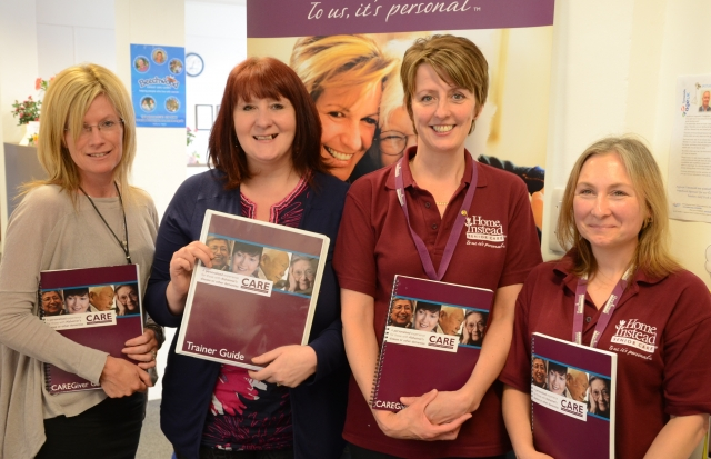 Caroline with Care Manager Michele Bushell, Jackie and Hayley