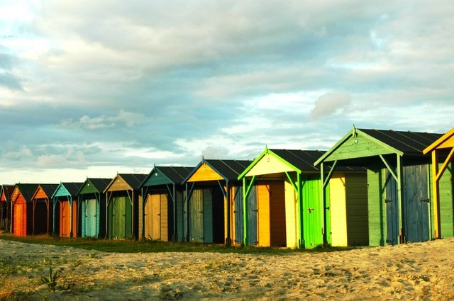 West Wittering Beach huts. © Copyright David M Moore