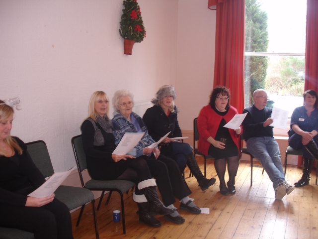 Choir Singing at the Psalter Lane Office Party