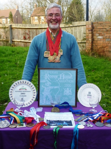 David with some of his medals