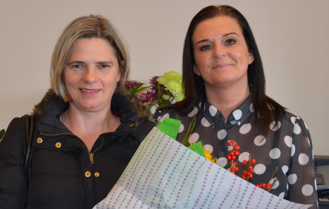 Caroline with Care Manager Michele Walsh