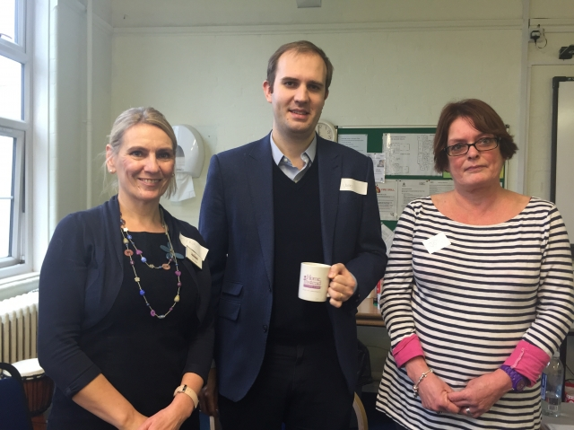 Lynn James, James Berry MP  and Jo Newton from Alz Society